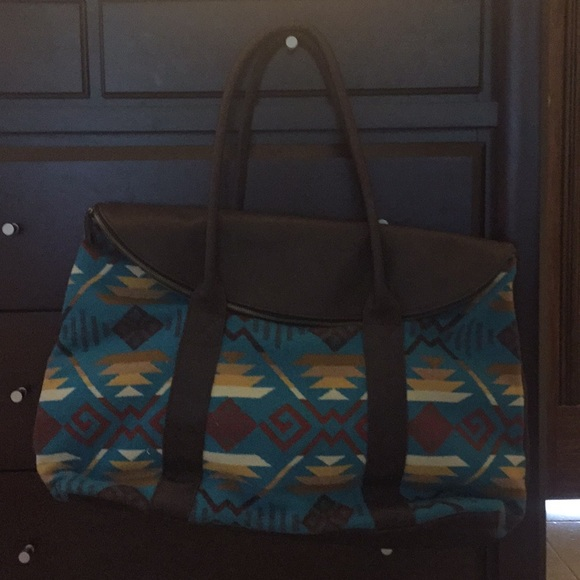 Carry All Bag Pendleton Black Coyote Butte Overnight Tote